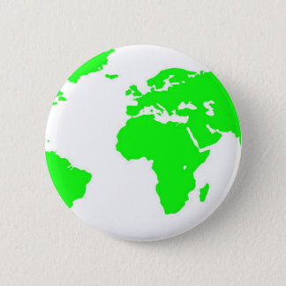 Green White World Map Button