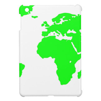 Green White World Map iPad Mini Cases