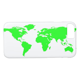 Green White World Map iPhone 8/7 Case