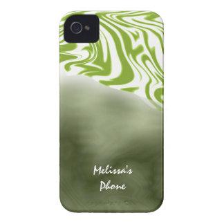 Green White Zebra Print Blackberry Phone Case
