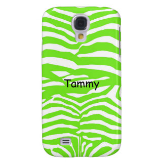 Green & White Zebra Print Samsung Galaxy S4 Cover