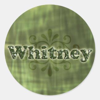 Green Whitney Classic Round Sticker