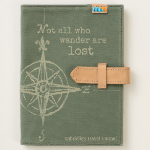 Vintage world map notebooks journals zazzle green who wander compass travel journal gumiabroncs Choice Image