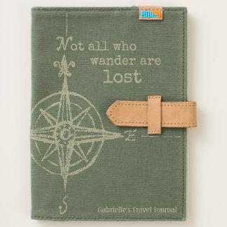 Green Who Wander Compass Travel Journal