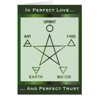 Green Wiccan Rites of Passage Card