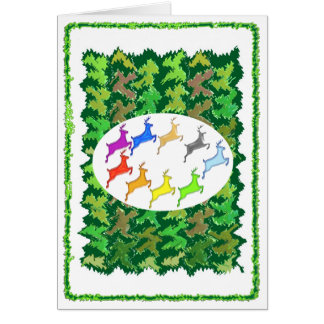 Green Wild Jungle n Deer Roaming Card