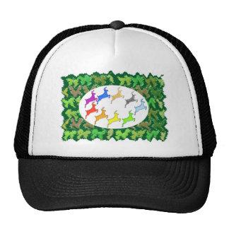 Green Wild Jungle n Deer Roaming Trucker Hat