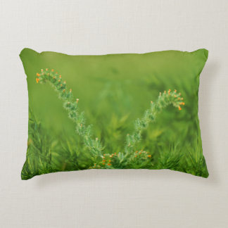 Green Wild Plant Photograph Accent Pillow