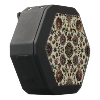 Green Wildflowers Tapestry spiral frame Black Bluetooth Speaker