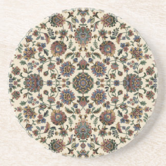 Green Wildflowers Tapestry spiral frame Drink Coaster