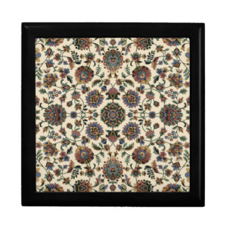 Green Wildflowers Tapestry spiral frame Jewelry Box