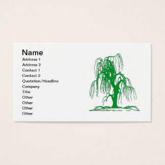Green Willow Tree Business Cards