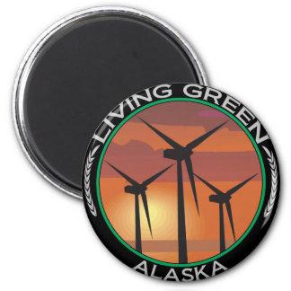 Green Wind Alaska Magnet