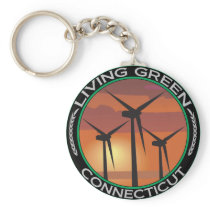 Green Wind Connecticut Keychain
