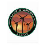 Green Wind Illinois Post Card