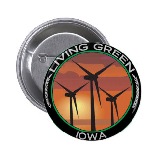 Green Wind Iowa Button