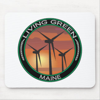 Green Wind Maine Mouse Pad