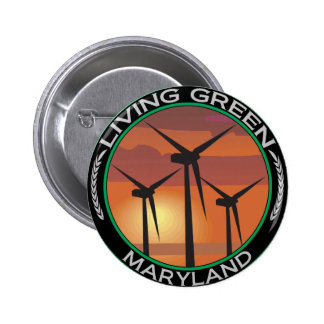 Green Wind Maryland Button