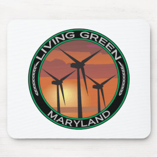 Green Wind Maryland Mouse Pad