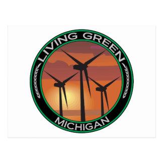 Green Wind Michigan Postcard
