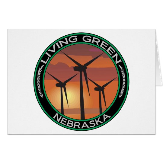 Green Wind Nebraska Card