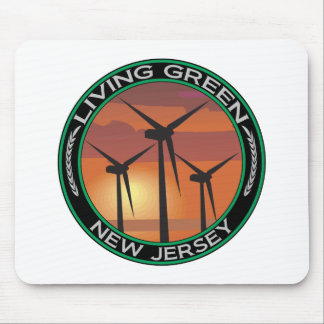 Green Wind New Jersey Mouse Pad