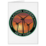 Green Wind New York Greeting Cards