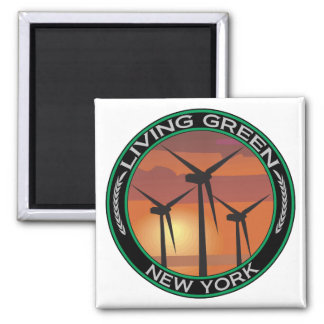 Green Wind New York Magnets