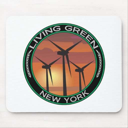 Green Wind New York Mouse Mats