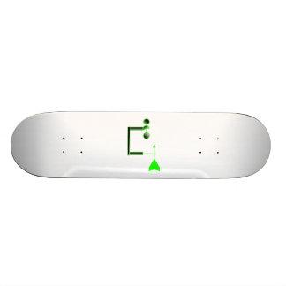 Green Wind Speed and Weather Vane Skateboard Deck