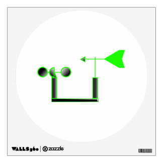 Green Wind Speed and Weather Vane Wall Sticker