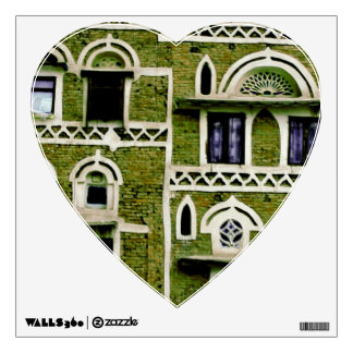 green windows and doors wall decal