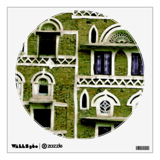 green windows and doors wall sticker