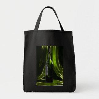 Green wine bottle bag