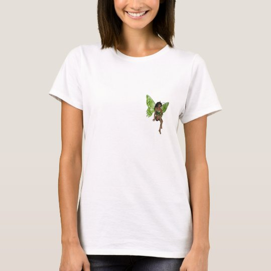 Green Wing Lady Faerie 6 - 3D Fairy - T-Shirt