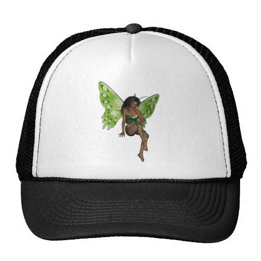 Green Wing Lady Faerie 6 - 3D Fairy - Trucker Hat