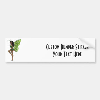 Green Wing Lady Faerie 7 - 3D Fairy - Bumper Stickers