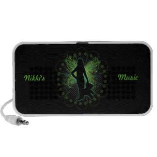 Green Winged Fairy Doodle Notebook Speakers