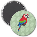 Green-winged Macaw 3 Inch Round Magnet