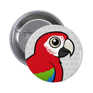 Green-winged Macaw Buttons