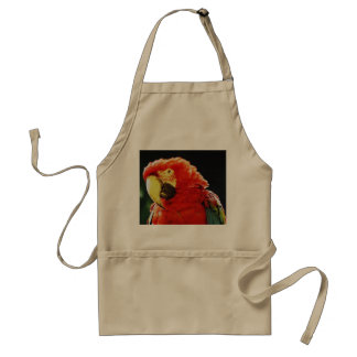 Green Winged Macaw Parrot Bird Close-Up Aprons