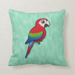 Green-winged Macaw Pillows