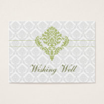 green wishing well cards