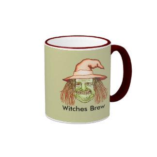 Green Witch Face Coffee Mug
