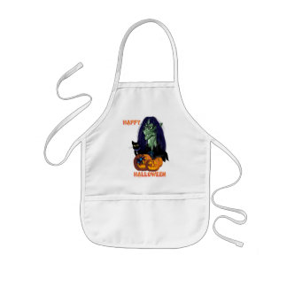 Green Witch-Happy Halloween Aprons