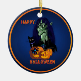 Green Witch -Happy Halloween  Ornament