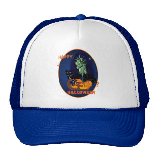 Green Witch - Happy Halloween Oval Hats