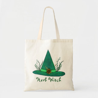Green Witch Hat Herb Craft Pagan Witchcraft Magic Tote Bag