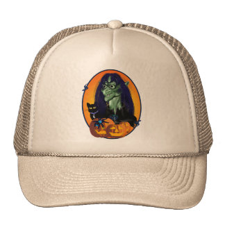 Green Witch Oval Hats