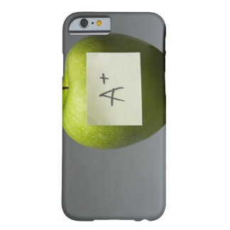 Green with adhesive note with letter A and Barely There iPhone 6 Case
